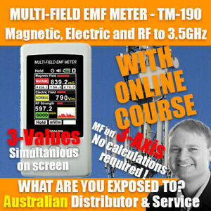 TM-190 WITH ONLINE COURSE! - Multi-Field EMF RF Gauss meter TENMARS - Oz Seller