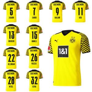 Puma Borussia Dortmund BVB Mens Home Jersey Shirt 2021 2022 w/ Player Name
