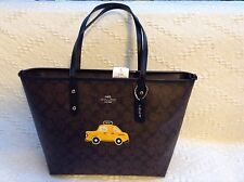 NWT. Coach Signature Limited Edition NY Taxi City Zip Tote Bag F57615