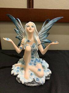Winter Fairy Figurine Snow Faery Statue Snowflake Cold