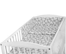 Juego de Ropa Cama para Bebé 120x60 Cuna 2 3 5 6 Pc Almohada Edredón Protector