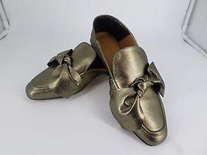 River Island Yotta Gold Leather Shoes UK 3 EU 36 rrp £55 LN08 15 SALEs