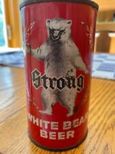 White Bear Strong Vintage Flat Top Beer Can REAL Eau Claire WI