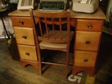 School Desk Mid Century Rock Maple Desk w/ Chair