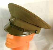 Original 1988 Soviet Russian Army Officer Field Uniform Visor Hat Cap Badge 58 L