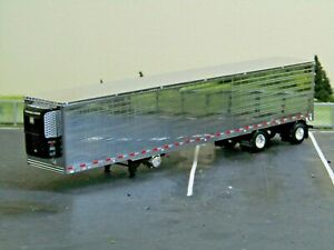 dcp chrome/black spread axle 53ft reefer trailer w/fenders new no box 1/64