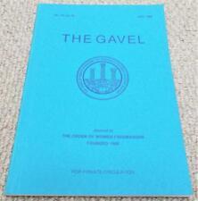 1986 The Gavel Magazine Vol 52 No175 - Order of Women Freemasons - Masonic