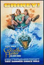 THE CROCODILE HUNTER - 27x40 D/S Original Movie Poster One Sheet Steve Irwin