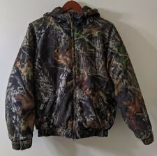GAMEHIDE Mens Vintage Hooded Camo Coat Size XL Brown Green Puffer