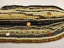 "25 Strands 14"" - 15"" India Handmade Water Buffalo Bone Beads Wholesale Lot (B-4)"