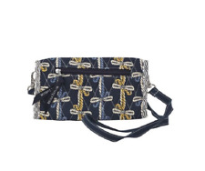 Bella Taylor Quilted AMERICAN CHARM TriFold Wallet - Navy, Periwinkle, Gold