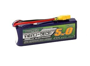 RC Turnigy nano-tech 5000mAh 3S 45~90C Lipo Pack w/XT-90
