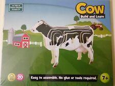 Puzle de vaca en madera fina COW Build and Learn