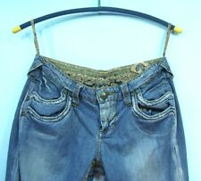 Stitches Authentic Tailored Womens Denim Blue Jeans Size 28X33 Low Rise Boot Cut