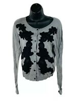 Cabi Womens Cardigan Sweater Long Sleeve Knit Style 100 Gray Size Small