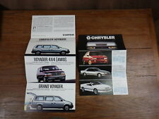 2x PROSPEKT BROCHURE AUTO CATALOG SALES CATALOGUE : CHRYSLER VOYAGER 1990
