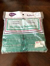 Vintage Nylrem Professional Mesh Rollers Green 12 Count New in Package