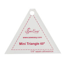 "SEW EASY MINI 60 DEGREE TRIANGLE TEMPLATE 6.35cm x 7.11cm / 2.5""x 2.8"" PATCHWORK"