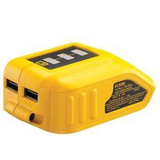 DEWALT DCB090 10.8V / 14.4V / 18V Li-Ion USB Phone Charger Adapter