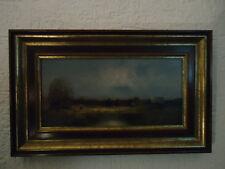 Schönes original Gemälde von Karl Schmidbauer Zwei Personen am Teich - Signiert