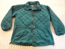Woolrich Womens Vintage 1990s Teal Cotton & Nylon Quilted Jacket  (Medium) USA