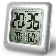 Digital Bathroom Waterproof Alarm Clock Shower Clock with LCD Time Display