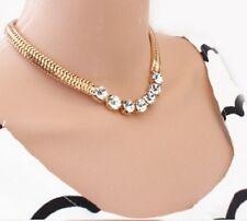 44 Cm Collar cadena Serpiente de Oro Maciza Gargantilla Con Pedrería vendedor del Reino Unido