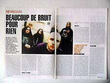 COUPURE DE PRESSE-CLIPPING :  MESHUGGAH [2pages] 2002 Marten Hagström,Nothing