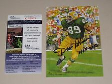 Dave Robinson signed Green Bay Packers HOF Class of 2013 Goal Line Art Card JSA