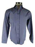 Armani Collezioni Blue Check Long Sleeve Cotton Dress Shirt 41L 16-35 Recent