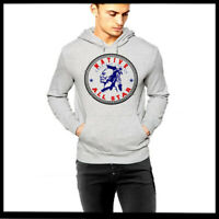 Native American Indian Grey Hoodie Warrior With Mohawk Size S-2XL Pullover new