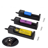 1 slot Battery USB Charger for Rechargeable Batteries Li-ion 18650 26650 14500