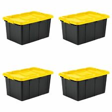 Sterilite 27 Gal. Industrial Tote Yellow Lily Case of 4