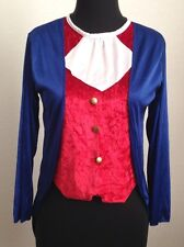 Red Blue White Tux Top Halloween Costume w Goldtone Buttons