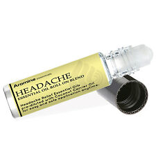 Headache Relief Essential Oil Roll On, Pre-Diluted 10ml by Aromine Essentials