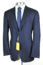 NWT $1595 CANALI 1934 Solid Navy Wool Unstructured Coat Kei Jacket 58 48R / 46R