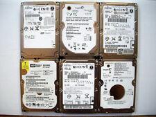 Lote de 6 discos duros IDE para ordenadores portátiles.