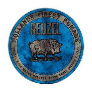Reuzel Blue Mens Hair Pomade 113g Strong Hold Water Soluble - UK STOCKIST
