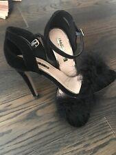 1214f7f67e Miss Kg Black Fluffy Evening Shoes Heels Size 5 38 Cost £160 Bnwob Rrp £