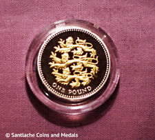 2008 ROYAL MINT GOLD SILHOUETTE SILVER PROOF £1 COIN IN CAPSULE - Three Lions