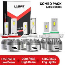 Lasfit LED Headlight Bulb 9005 H11+Fog Light 5202 for Chevy Silverado 1500 07-15