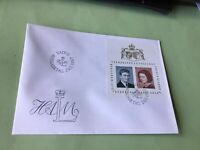 Liechtenstein Prince Hans Adam Marriage 1967 first day  stamps cover Ref 52262