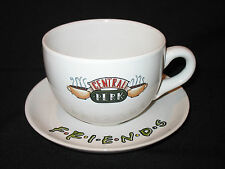 Vtg 1996 FRIENDS TV Show Large Central Perk Coffee Mug Cup and Saucer Warner Bro
