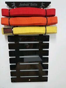 Personalised Martial Arts 13 Belt Hanger karate taekwondo 11 + 2 extra Rails