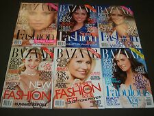 2010 HARPER'S BAZAAR MAGAZINE LOT OF 11 COMPLETE YEAR - FASHION COVERS - O 910