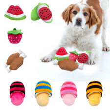 Pet Dog Puppy Squeaky Toys for Sound Training Playing Plush Teeth Cleaning Toys