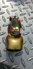 Vintage German Brass Leather Cow Bell nice