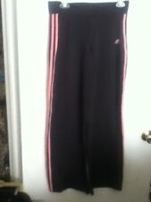 "Adidas  Black Pink Poly Spandex Athletic Sport Jog Work Yoga Pants M 32"" Inseam"