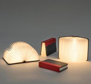 Lumio LITO+ Mini GRAY RED  Fabric Book Lamp Light reading lamp & Power Bank