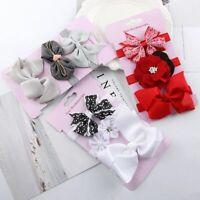 mädchen bowknot baby floral stirnband haar - accessoires elastische hairbands
